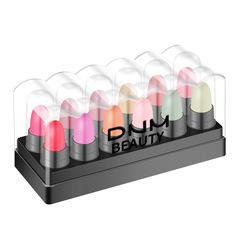 Cute Waterproof Kit Cute Satin Lipstick 12pcs/Set Long Lasting Velvet Matte Mini Lip Set Gloss Lips #1