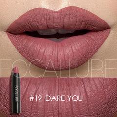 FOCALLURE 19Colors Matte Lipsticks Waterproof Matte Lipstick Lip Sticks Cosmetic sexy Matte Lipstick #19