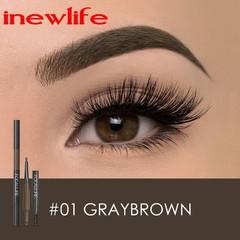 Eyebrow Pencil 3 in 1 Waterproof Eye Makeup Brow Shades Brush Powder Long Lasting Eyebrow Pencil #01