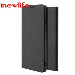 Leather phone case for Samsung Galaxy A30 A20 S8 S9 mobile phone case anti-fall mobile phone case black A30