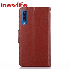 Samsung A10/A30/A40/A50/A20/A60 horse-size mobile phone case Multi-function photo frame leather case brown A30