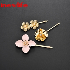 New ins style pearl hair clip 3pcs/set for woman new creative hair clip round pearl hairpin styling design1 as picture show