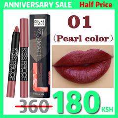 Matte Lipstick Pencil Lips Makeup KissProof Makeup Waterproof Matt Lip Stick Cosmetics Lip Balm Pens #01