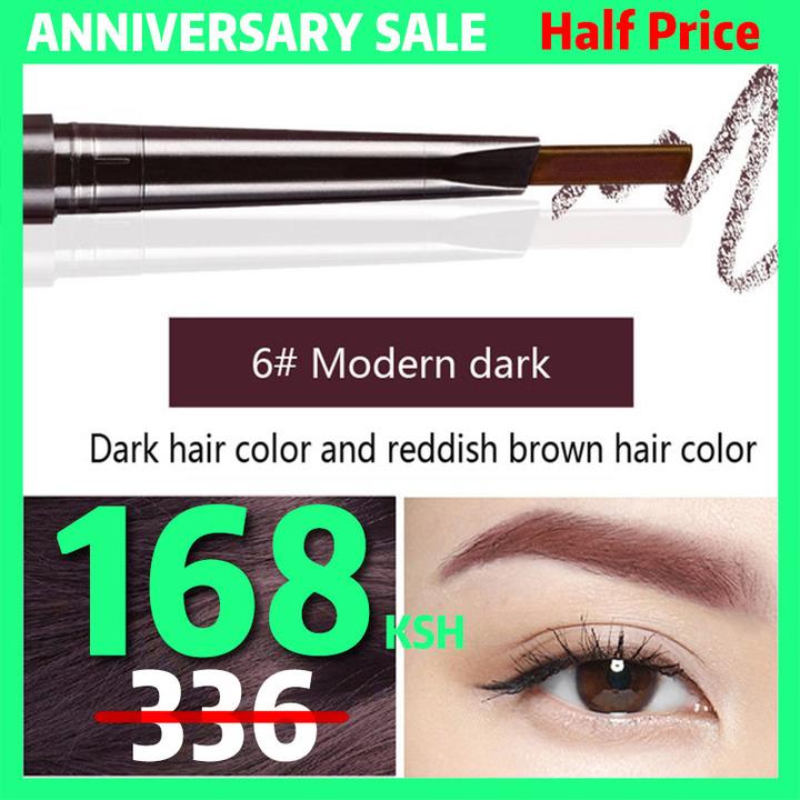 6Colors Eyebrow pencil Natural Long Lasting Paint Tattoo Eye Brow Waterproof Eyebrow Pencil Make up #6 modern dark
