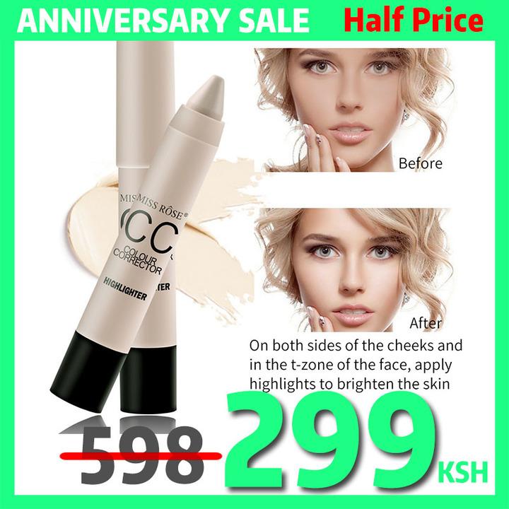 Natural CC Moisturizing Foundation Makeup Waterproof Whitening Concealer Stick Brighten Skin Color 04 HIGHLIGHTER#
