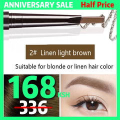 6Colors Eyebrow pencil Natural Long Lasting Paint Tattoo Eye Brow Waterproof Eyebrow Pencil Make up #02 linen light brown