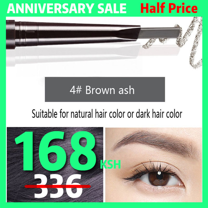 6Colors Eyebrow pencil Natural Long Lasting Paint Tattoo Eye Brow Waterproof Eyebrow Pencil Make up #04 brown ash