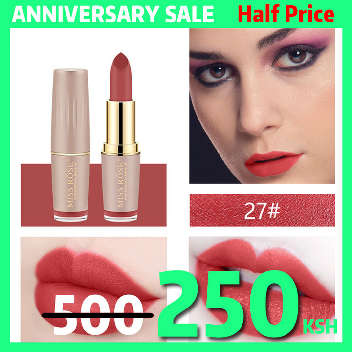 4Colors Matte Lipstick Long Lasting Lip Cosmetic Lip Waterproof Makeup Lip Gloss Maquiagem No Fade #27