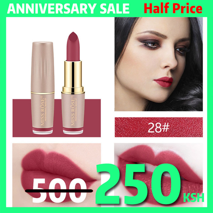4Colors Matte Lipstick Long Lasting Lip Cosmetic Lip Waterproof Makeup Lip Gloss Maquiagem No Fade #28
