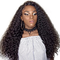 Popular Long Curly Hair With Slide Bangs for Africa Girl to Daily Dating dark brown one size