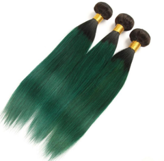 Wigs For Women With Thinning Hair∣One Piece Green Hair∣Weaving Styles T1B Stone Green 10