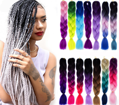 Africa Dreadlocks Ombre Small Braids Colorful Hair Wigs for Black Girl 49 one size