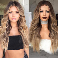 2019 New 25Inch 65cm OPP Bag Packing Long Wave Wigs Synthetic Hair As the photo show 25 Inch