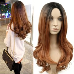 2019 New Style Black Brown Big Weave Curly Wigs Send Cap Gift  For Pear Shape Black Gold 25inch