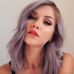 25Inch  Light Purple Color Wig Shoulder Length for Elegant Lady 2019 Hair Style as the photo show one size