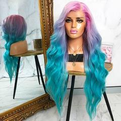 2019 Fashion Colorful Big Deep Wave Hair Wigs for Any Skin Female as the photo show 25inch
