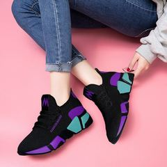 Pesber Shoes Popular Red Athletic Casual Sport Shoes for Student Travel Shoes for Women Purple 38