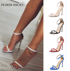 Pesber Shoes NightClub High Heels Shoes Party Shoes for Women Sandals for Lady Streetshot Black 41