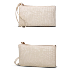 HGLD Women bag crocodile wallet women clutch Bag single bag bags white 19cm*11cm