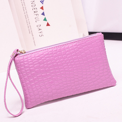 HGLD Women bag crocodile wallet women clutch Bag single bag bags purple 19cm*11cm