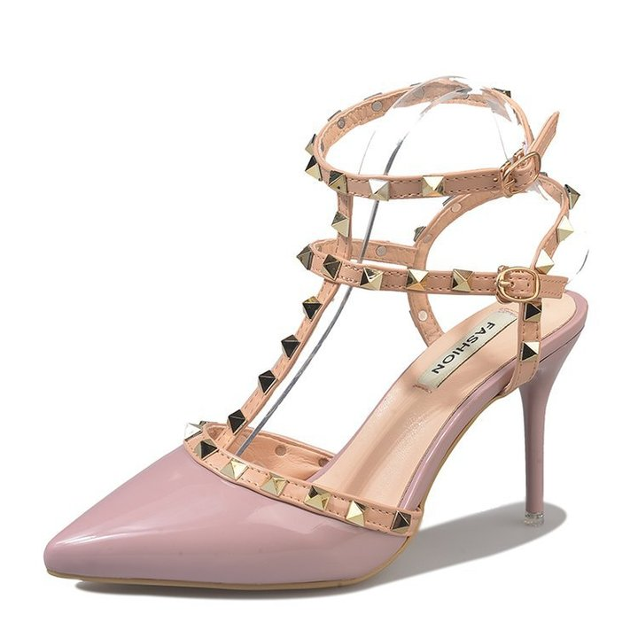 HGLD Women high heels summer autumn sexy willow pointed stiletto high quality sandals woman shoes pink 39