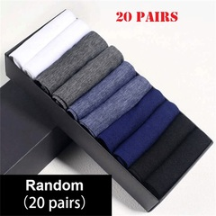 20 pairs of socks for man, solid color, men breathable socks, comfortable cotton socks Random color one size one size