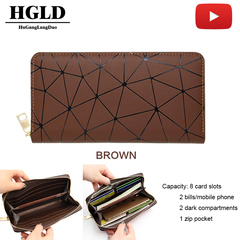 HGLD woman Wallet Simple Atmosphere handbag Inner Large Card Case Mobile Phone Bags Women bags