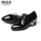 HGLD woman for shoes Ladies leather shoes Women's business shoes Work shoes with thick heels Blake 40