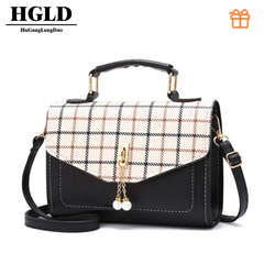 HGLD women bag, fashion wild women handbag,small square bag,women shoulder messenger bag blake size:20*14.5*7(cm)