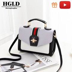 HGLD small square bag, fashion wild women handbag,women bag, women shoulder messenger bag gray 20*15*9(cm)