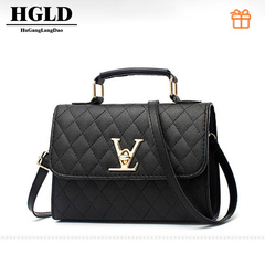 HGLD women bag, Popular bag,Diagonal package,fashion wild women handbag,small square bag blake 20*15*9(cm)