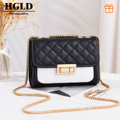HGLD Women handbag, women small square bag, women shoulder messenger bag, fashion small square bag blake size:20*14.5*7(cm)