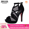 HGLD Women high heels summer fall autumn Sexy fashion quality boost personality Open toe woman shoes GRAY 40