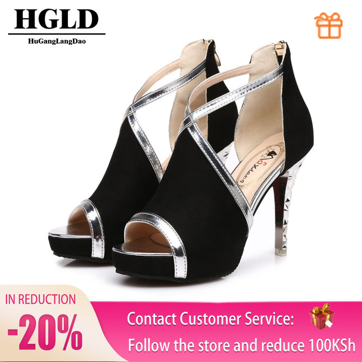 HGLD Women high heels summer fall autumn Sexy fashion quality boost personality Open toe woman shoes Blake 39