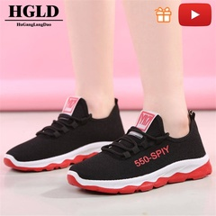 HGLD woman shoes autumn summer winter court sport running Walk canvas athletic Leisure sneakers high red 36