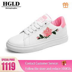 HGLD woman shoes autumn summer winter court sport running Walk canvas athletic Leisure sneakers high pink 35