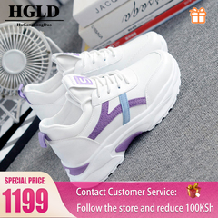 HGLD woman shoes autumn summer winter court sport running Walk canvas athletic Leisure sneakers high purple 35