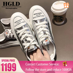 HGLD woman shoes autumn summer winter court sport running Walk canvas athletic Leisure sneakers high section a 35