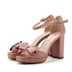 HGLD Women high heels Thick summer fashion sexy travel work party dinner quality sandals woman shoes quality/Khaki 34
