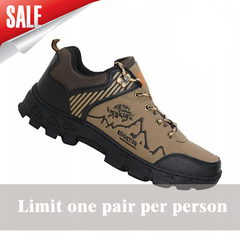 Men boots rock climbing hiking athletics tourism autumn and summer waterproof army man shoes Brownish yellow 39