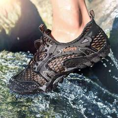 Men sandals hiking rock climbing long distance trekking  leisure genuine quality leather man shoes blank 38