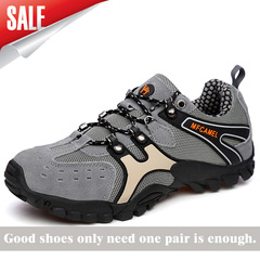 Men hiking rock climbing sports non-slip quality authentic casual leather sneakers man shoes Gary 39
