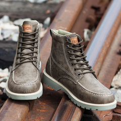 Men boost rock climbing sports non-slip quality authentic casual leather sneakers man shoes brown 38