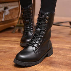 black boots rainy season shoes high quality PU large size shoes leisure walking, woman and man blank 38