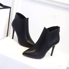 HGLD Women boots, high quality PU, stiletto, pointed, party, work woman shoes black(7cm) 34