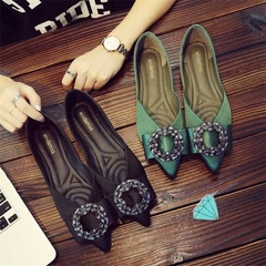 Women Casual Shoes Flats Comfortable versatile high quality PU sole Simple Slippers Style one 35