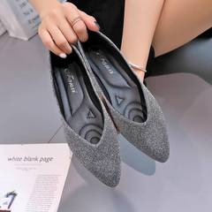 Women's shoes flat bottom sandals slippers fashion work comfort leisure shopping pointed kgray 35