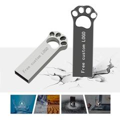Metal cat claw usb flash drive 128GB 32GB 64GB memory stick pen drive flash drive customization original color cat claw 32g
