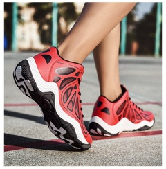 generation basketball shoes Men All-star high-top air cushion boots non-slip sneakers air cushion red 39
