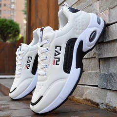 Sports and leisure shoes men running shoes air cushion  new wild breathable and comfortable shoes white 39